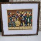 Israeli artist Rubinstein, marvelous Jewish Musicians colorful print