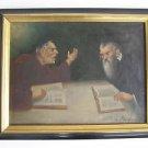 B.Kaufmann Orig Oil on Canvas Jewish Judaica WOW+++