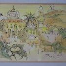 Isaac Amitai {Israel, 1907-1984} watercolor on paper
