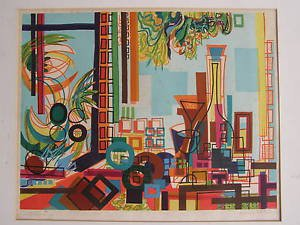 Yona Lotan (Israeli - French, 1926-1998) Hand Signed Lithograph