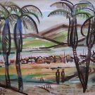 Tuchamsky Israeli Artist Original Watercolor