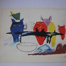 Marvelous Unsigned Colorful Print - Joan Miro style