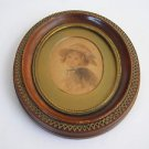 Marvelous miniature 19th Century watercolor on paper oval painting
