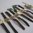 Lot of 9 different used watches & straps for parts only