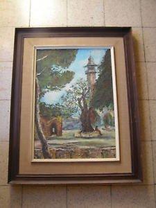 Marvelous oriental oil on canvas painting