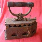 Antique Heavy Coal Handle Clothes Iron