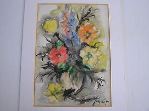 Nicola Kovach, Israeli artist Lot of 3 mixed media paintings