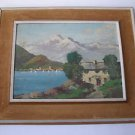 Antique marvelous oil on board painting