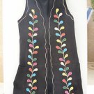 RARE Stunning Vintage Israel BEGED-OR Suede & Leather Women's Vest