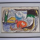 Marcel Janco (Israeli, 1895–1984) First Edition Lithograph 1969 Hand Signed