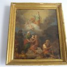 18th Century Italian Old Master, Blessed Virgin Mary Assumption - Antique oil