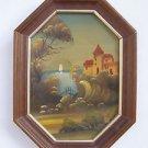 Marvelous vintage miniature oil on board painting