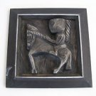 Marvelous Wall Relief Heavy Sculpture Ceramic Plaque
