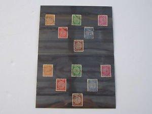 Lot of 12 Vintage 1950's �ר�עת ���נ�� ש� �ר ����� Israel Stamps