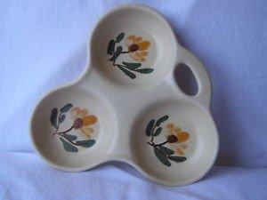Vintage Israel Kernat Hand Painted Art Pottery Dish