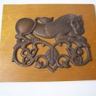 Marvelous Lion Wall Relief Sculpture Plaque attached to Heavy Board