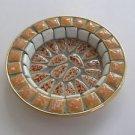 Israel PM hand made Mosaics copper base small dish