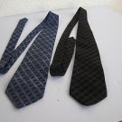 Pair Vintage Laurant Benon silk ties