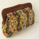 Vintage Marvelous Bakelite Frame Women's Floral Purse