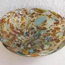 Spectacular Vintage Italian Murano Colorful Art Glass Bowl BEAUTIFUL !!!