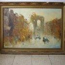 """""""Arc de Triomphe"""" marvelous oil on canvas painting"""