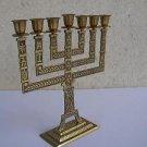 Vintage Marvelous Israel Jewish Judaica, Solid Brass Large Menorah