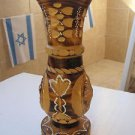 Vintage Marvelous Art Wood Carving Big Vase