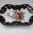 Vintage Marvelous Handpainted Ceramic Porcelain M Z Czech Servicing Plate
