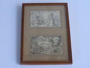Sara Berman Beach (American, 1897-1978) a pair of drawings on paper
