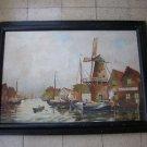 Marvelous huge heavy Italian oil on canvas painting
