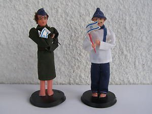 Pair Vintage Marvelous Israel Jewish Judaica Custom Dolls