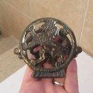 Spectacular Vintage Israel Jewish Judaica Brass Napkin Holder 1950's
