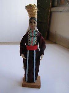 Vintage Handmade Jewish Woman Judaica Doll Israel 1950's, 60's