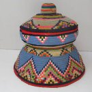 Spectacular Rare Vintage Hand Woven Wool Bedouin Primitive Pitta Storage Box