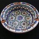 Vintage Israel Hand Painted Ceramic Floral Ashtray
