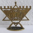 Vintage Israel Jewish Judaica, SHALOM שלום Star of David Hanukkah Menorah