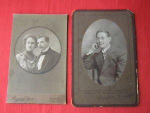 Rare Pair of 1911 signed Hungary Portrait Photos
