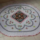Marvelous Vintage Embroidered Floral Tablecloth
