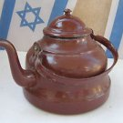 Vintage Marvelous Giant Heavy 1100gr SPLENDID Enamel Teapot Tea Kettle