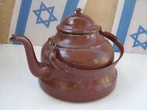 Vintage Marvelous Giant Heavy 1100gr SPLENDID Enamel Teapot Tea Kettle