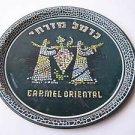 Vintage marvelous Israel CARMEL MIZRACHI ORIENTAL WINE TIN PLATE