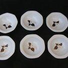 Vintage Marvelous Israel Naaman Ceramic Porcelain Set of 6 Plates