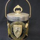 Stunning vintage metal & plastic Ice Bucket