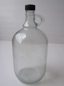 Vintage Marvelous Decorative Clear Glass Wine Bottle