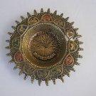 Vintage Israel Jerusalem Jewish Judaica Brass Ashtray with the zodiac symbols