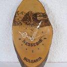 Vintage marvelous BULGARIA NESSEBAR natural wood tree wall clock