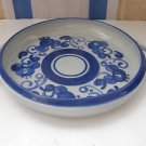 "Vintage Marvelous Israel ""Lapid"" Handle Ceramic Floral Servicing Plate"