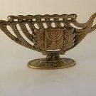 Rare Marvelous Vintage Israel Jewish Judaica, Brass Hanukkah Lamp Menorah