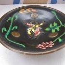 Vintage Marvelous Israel Jewish Judaica, Hand Painted Brass Plate 1950's, 60's