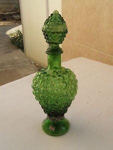 Vintage Marvelous Israel CARMEL ZION Winery Green Glass Wine Bottle